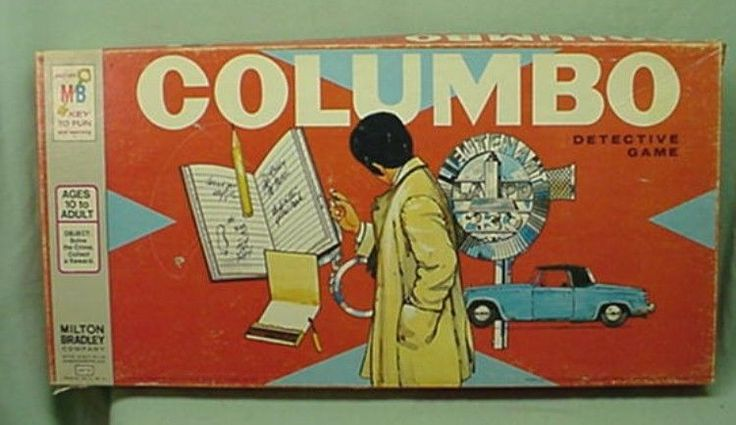 Vintage 1973 Columbo Detective Board Game T V show Milton Bradley #MiltonBradley