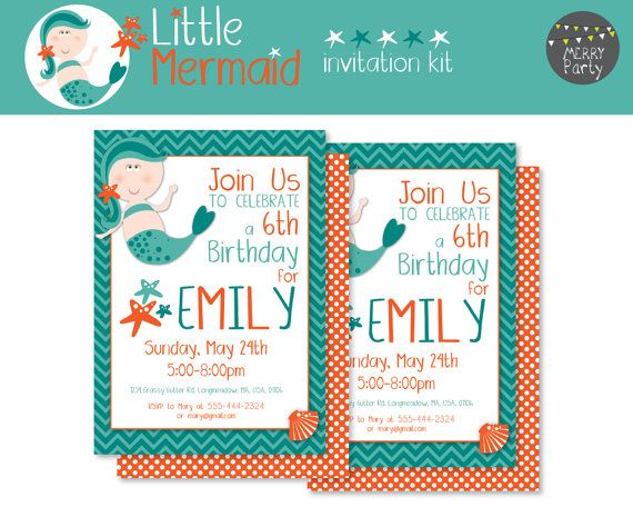 Little Mermaid Invitation