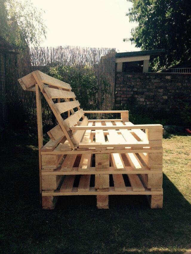 Gartenbank Seite DIY