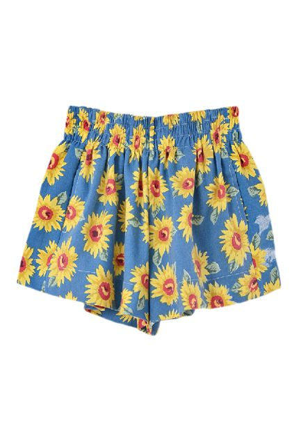 The shorts are high waisted and the top is more like a bandeau top than a crop top, but the two look good together. I gave it 4 stars because the material is a little thin and overall it runs small. I'm normally a 0/xs and ordered a size medium which fits great.