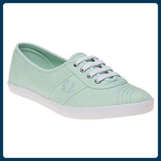 Fred Perry Aubrey Twill Damen Sneaker Grün - Sneakers für frauen (*Partner-Link)