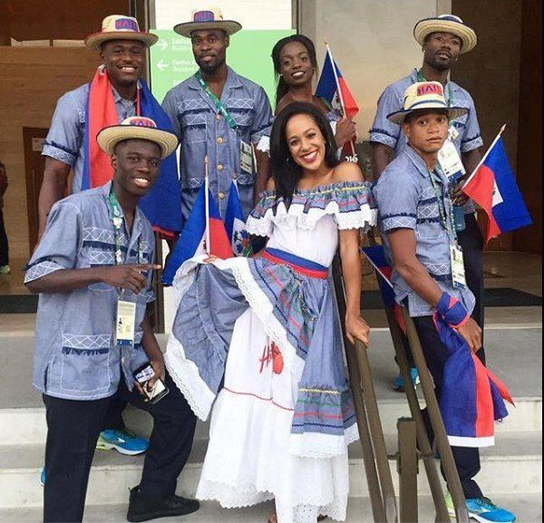 #TeamHaiti has never looked so good!!! #Haiti aux JO de #Rio2016