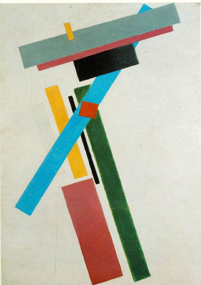 Suprematism 1915 Oil on canvas 34 1/2 x 28 3/8 in. (87.5 x 72 cm.) State Russian Museum, St. Petersburg