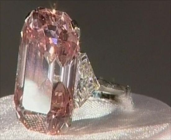 An amazing pink diamond ring that is studded with five carats of diamonds is the world's most expensive diamond ring. The ring was auctioned in Hong Kong for a record $10.8 million