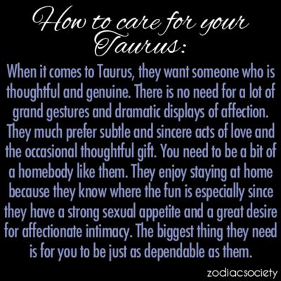 How To Care For A Taurus.