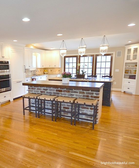 17 Best Kitchen Brick Island Images On Pinterest