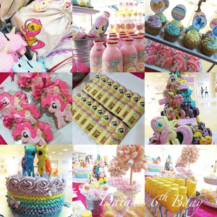 Daiana's 6th Bday #mylittlepony #desserttable #birthdayparty #kids #girls