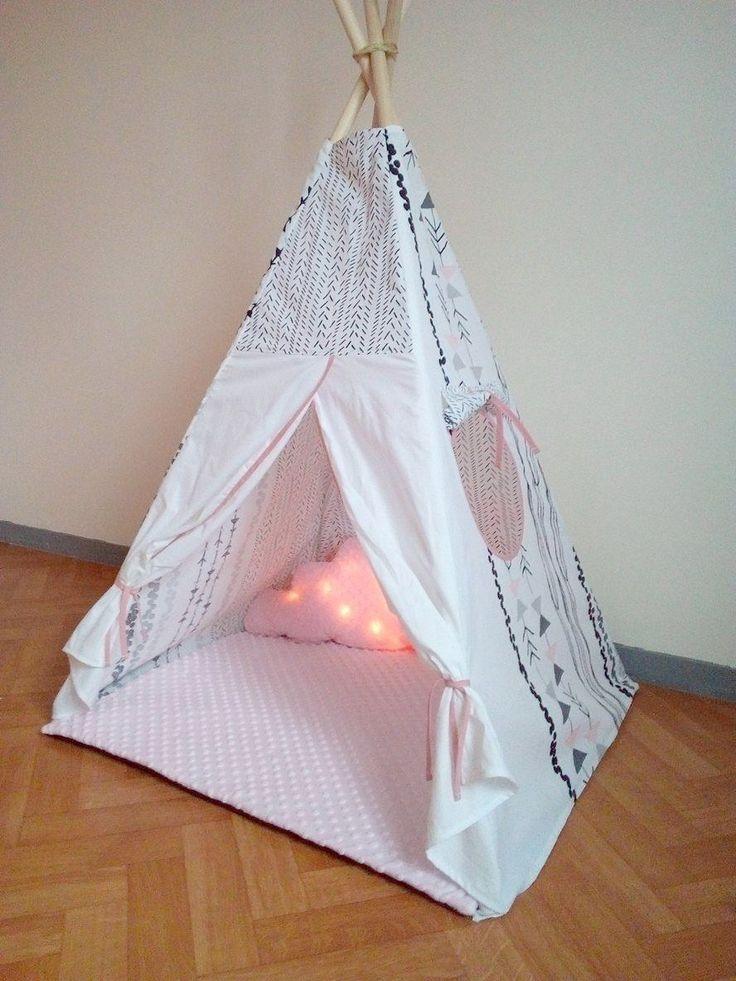 Tipi Indien Tente Wigwam avec fenêtre à personnaliser OPTION 6 : Jeux, jouets par ilyna-creations