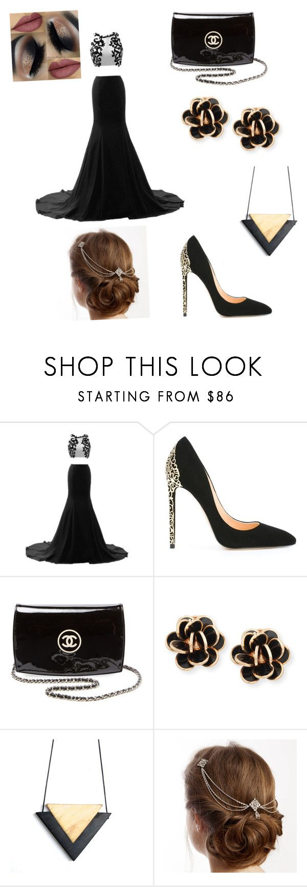 """Ella at prom"" by savvaeagle14 ❤ liked on Polyvore featuring Cerasella Milano, Chanel and Chantecler"