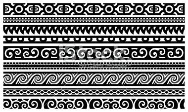polynesian patterns | Maori Designs - Borders Royalty Free Stock Vector Art Illustration