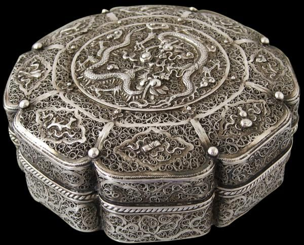 Chinese Silver Filigree Box