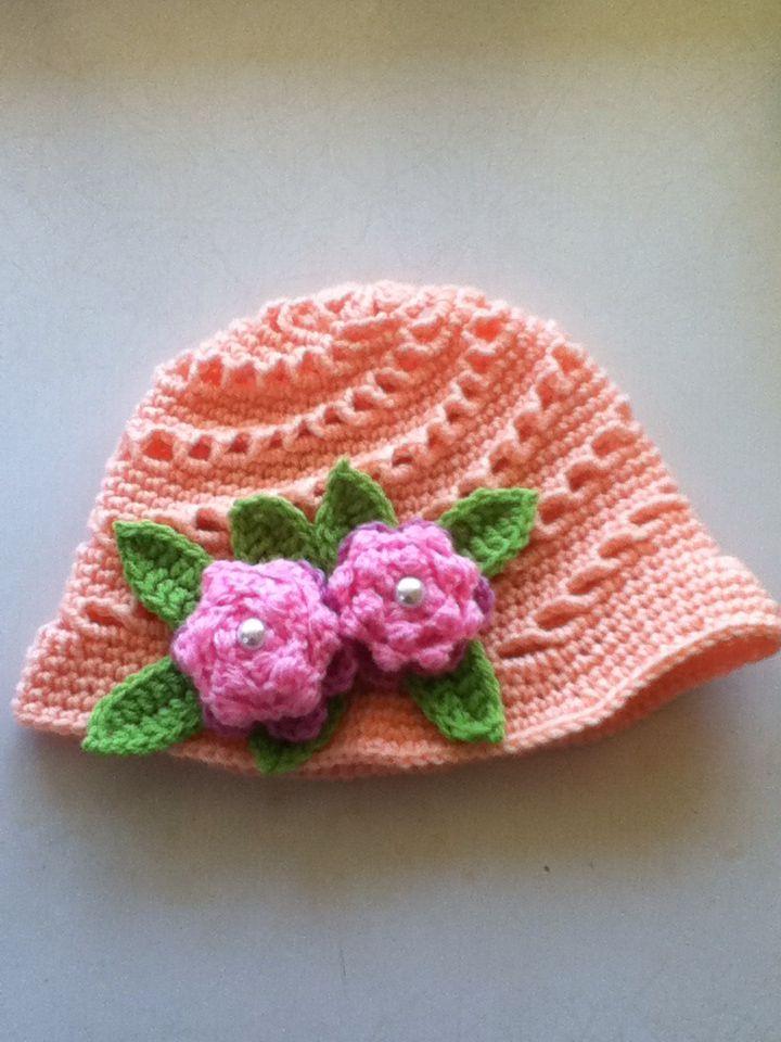 Apricot swirl hat