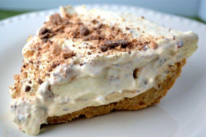Heath Bar Fluff Pie - Stuck On Sweet