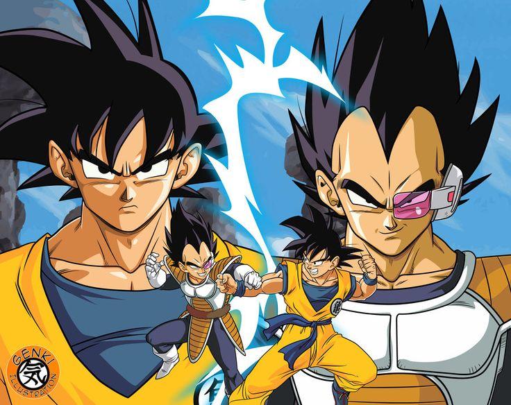 Goku vs vegeta by genkidbz on deviantart dragon ball - Dbz goku vegeta ...