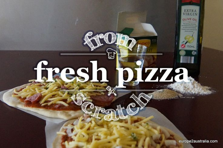 Recipe: homemade pizza fromscratch