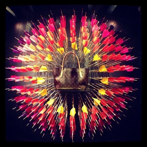 Louis Vuitton window display in Hollywood #olloclip #fisheye #louisvuitton