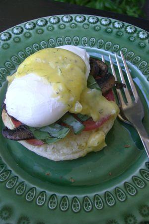 Gluten Free Vegetarian Eggs Benedict | fat girl style :) | Pinterest