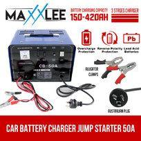 50A Car Battery Charger Jump Starter 2 IN 1  12V/24V ATV Boat Truck  Amp
