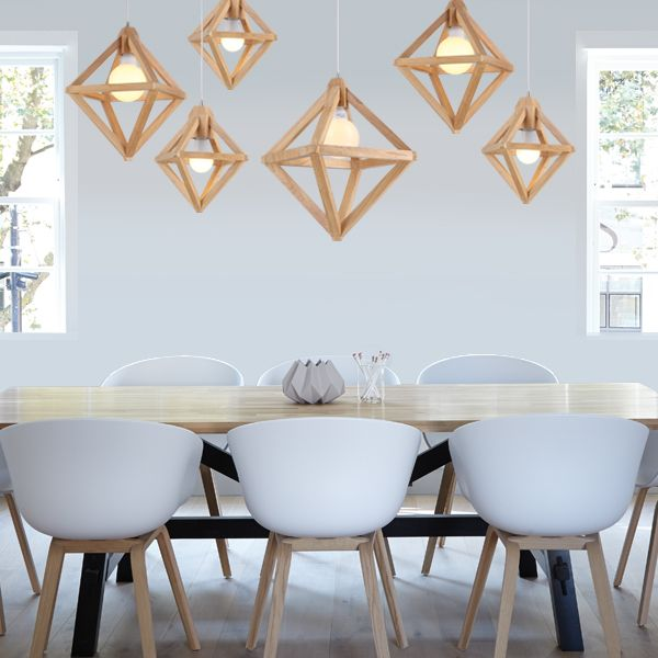 The Herr Mandel #Replica pendants called the Orbit pendants. They come in 3 different sizes so you can hang them in groups at different heights, or just as a single feature pendant. Either way, these diamond shape pendants are stunning.