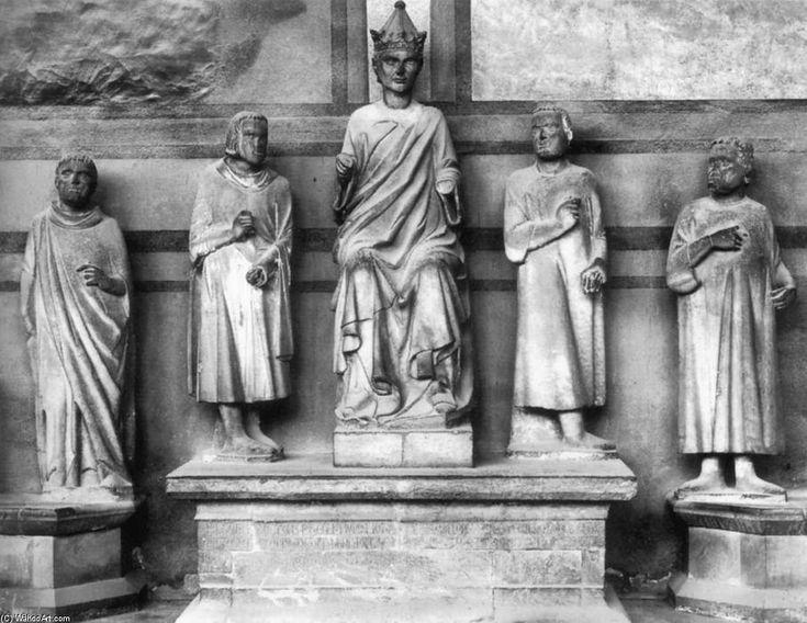 Tumba del emperador Enrique VII, mármol de Tino Di Camaino (1315). -Escultura gótica italiana.