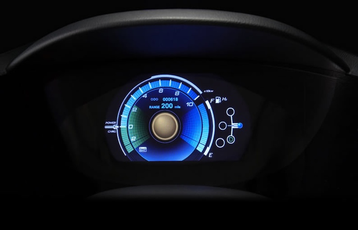 Dashboard of the Honda FCX Clarity