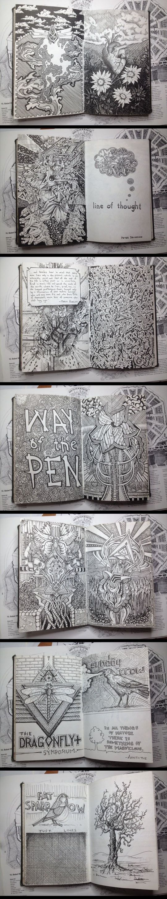 Sketchbook with some of the best drawings ever made... - The Meta Picture: