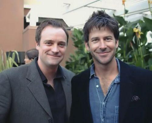 David Hewlett (Rodney) and Joe Flanigan (John) of Stargate Atlantis