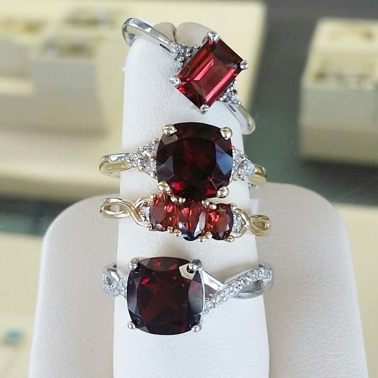 Northwood Jeweler's Birthstone jewelry for January is Garnet! Visit our website www.Northwoodjeweler.com to view more beautiful Rings & Necklaces!