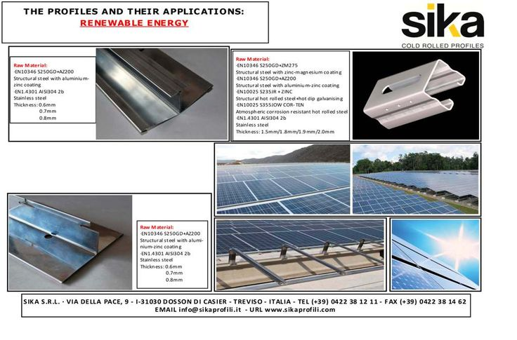 Renewable Energy Systems: special profiles by www.sikaprofili.com