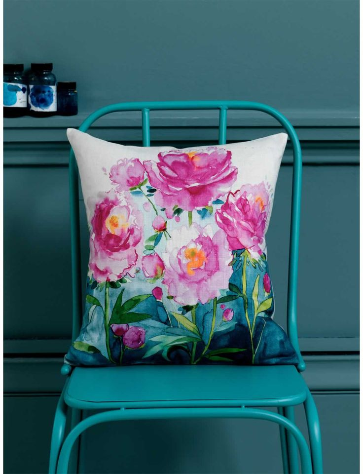 Beautiful flower design—amazing colors—Blossom Collection—fabric design by Fiona Douglas❣ bluebellgray