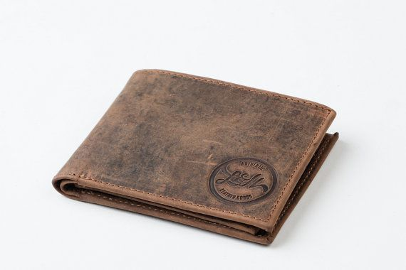 MENS WALLET with COIN pocket holder - leather / gents wallet, gift, anniversary…