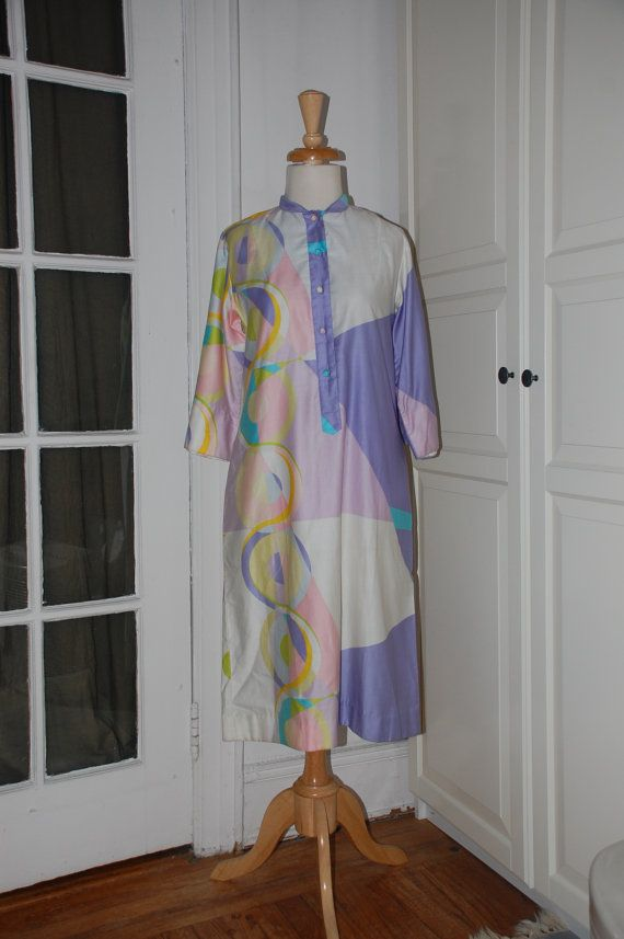 60s Dress Shift Mod Penthouse Gallery by fourstoryvintage on Etsy