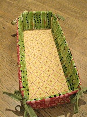 fabric basket diy