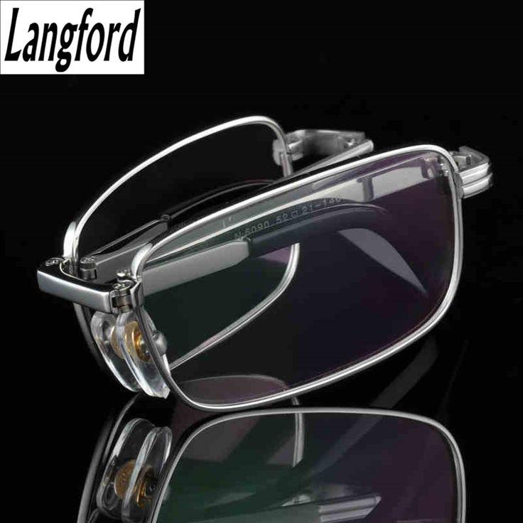 Folding frame Titanium Eyeglasses Frames Men Optical Glasses Frame Reading Clear Glasses Prescription Eyewear Lenses gold 6090