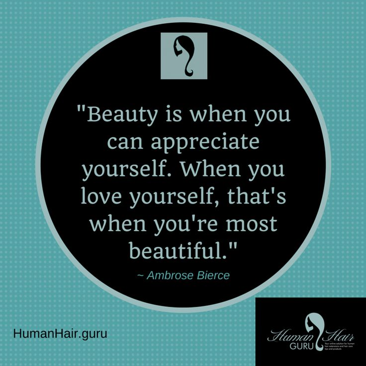 """...When you love yourself that's when you're most beautiful."" #HHGInspiration"