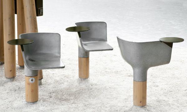 outdoor public furniture