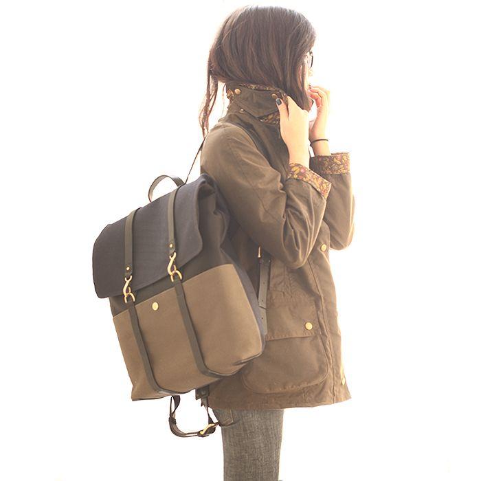 "girlsack:    Liberty x Barbour jacket. Baldwin ""the Ten"". Mismo for Très Bien bag."