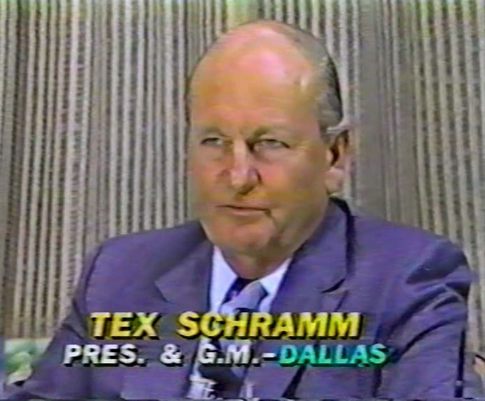 "TEX SCHRAMM, President of the Cowboys, interviewed on ""The NFL Today"" on November 26, 1981"