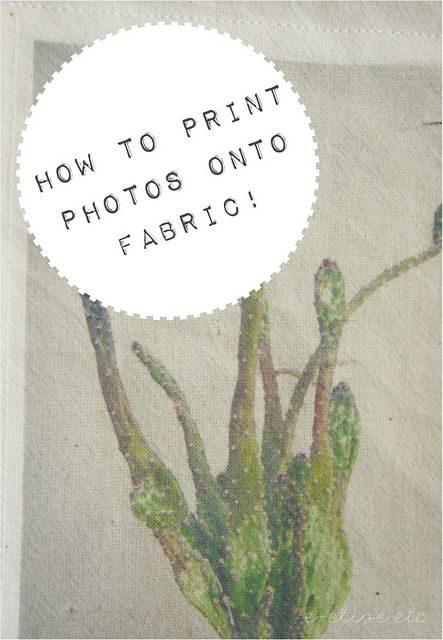 diy how to print photos directly onto fabric- no transfer paper required!