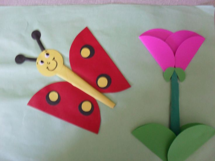 Çiçek ve kelebek