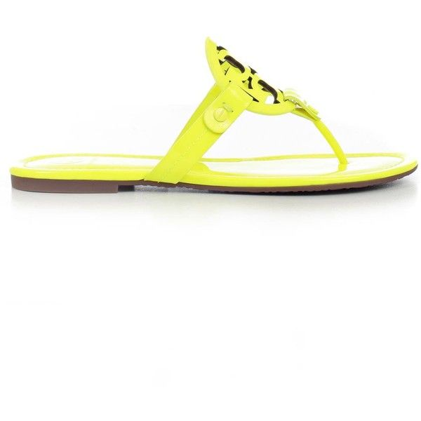 Sandals ($112) ❤ liked on Polyvore featuring shoes, sandals, womenshoessandals, yellow flat shoes, patent leather flat sandals, yellow patent leather shoes, open toe shoes and rubber sole shoes
