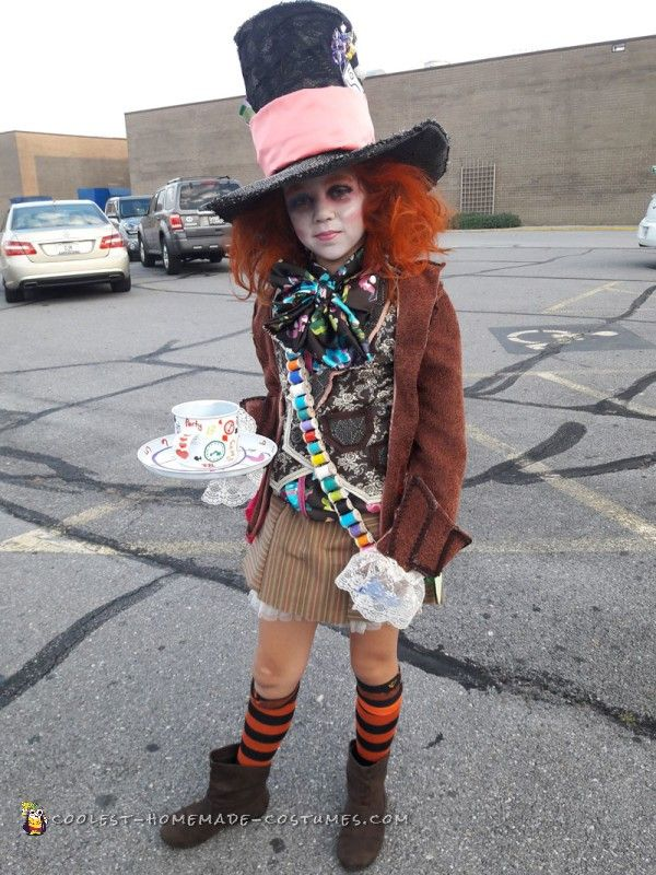 cool homemade alice in wonderland mad hatter costume - Halloween Home Costumes