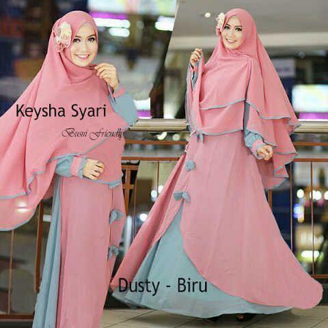 Gamis Syar'i Modern KEYSHA SYARI DUSTY - http://warongmuslim.com/gamis-syari/gamis-syari-modern-keysha-syari-dusty/