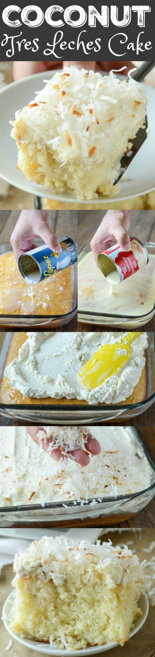 Coconut Tres Leches Cake - my favorite way to dress up a boxed cake mix!