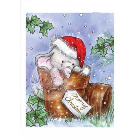 17 best images about wild rose studio winter christmas on pinterest studios robins and - Dessin elephant ...