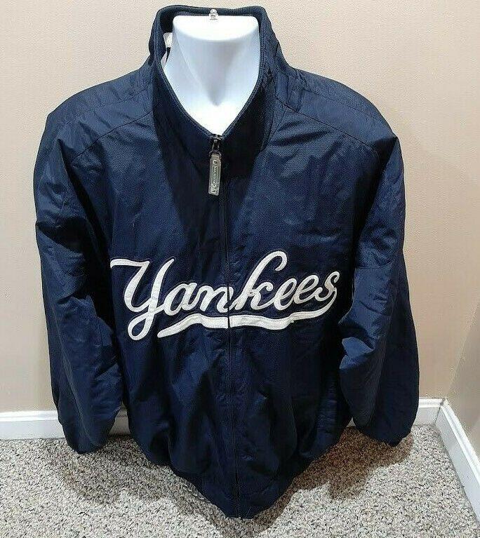 New York Yankees Blue Majestic Authentic Fleece Lined Dugout Baseball Jacket Xxl Majestic Newyorkyankees New York Yankees Baseball Jacket Yankees