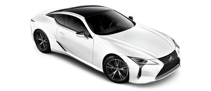 "2018 LC 500 in Ultra White with 20-inch split-10-spoke cast alloy Dark Silver with machined finish<span class='tooltip-trigger disclaimer' data-disclaimers='[{""code"":""TIREWEAR4"",""isTerms"":false,""body"":""20-in performance tires are expected to experience greater tire wear than conventional tires.  Tire life may be substantially less than 20,000 miles, depending upon driving conditions.""}]'><span class='asterisk'>*</span></span>, angle 3"