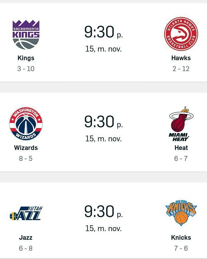 Miércoles. NBA.  . Too many action tonight! . . . . #NBA #season #regular #kings #hawks #heat #wizards #jazz #knicks #bulls #okc #sixers #magic #blazers #spurs #cavs #pistons