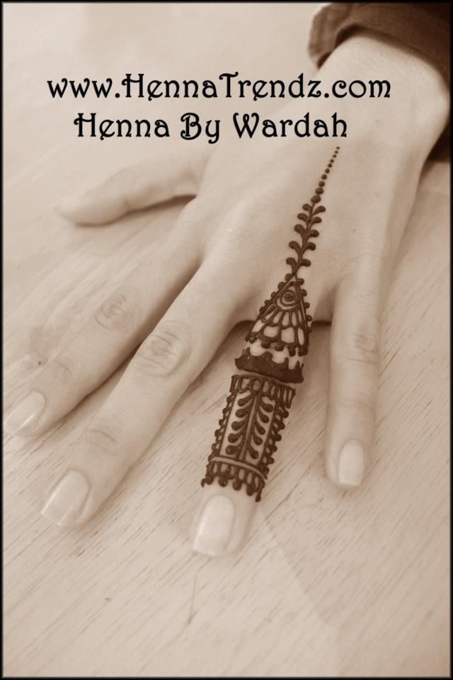 Henna Tattoo Ring Designs: Prepared For The Wedding Ring