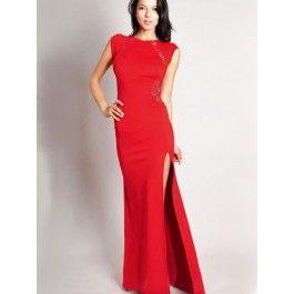 Vestidos con Encaje Largo Rojo VL80